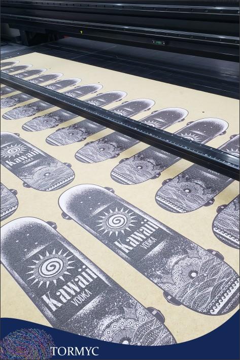 Impressão digital em madeira