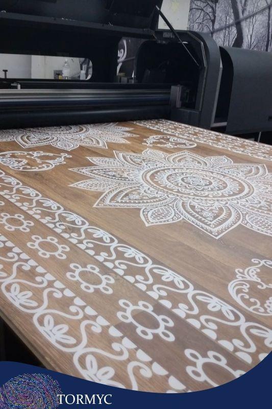 Impressão em madeira